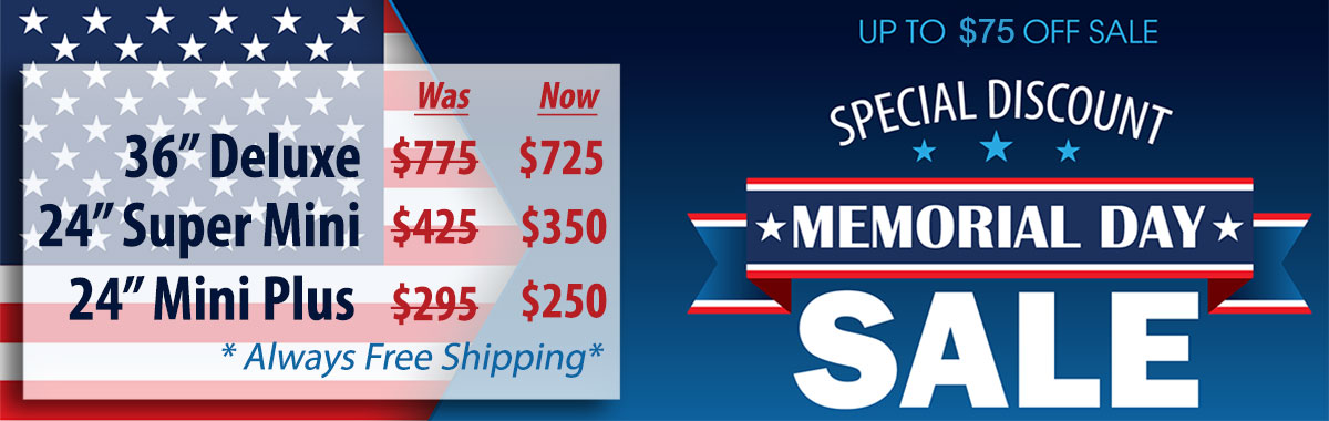 Memorial Day Sale for Pace Spray Paint Booths